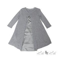 Elegant kjole i grå og guld lurex