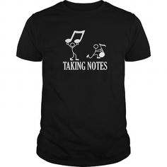 I Love Taking Notes Musicality Half Note Bass Treble Cleft Tshirt Shirts & Tees