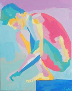 Abstract Nude Figure Painting Crouching Male Nude Original Acrylic Painting by AndrewOrtonArt on Etsy https://www.etsy.com/listing/240205366/abstract-nude-figure-painting-crouching