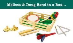 Melissa & Doug Band in a Box [Baby Product] Melissa & Doug. This musical set includes a tambourine, cymbals, maracas, clacker, tone blocks and a triangle. It's everything preschoolers need to form a marching band, launch a solo career or just enjoy exploring music and sounds.