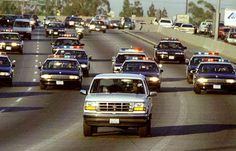 The infamous O.J. Simpson  police chase, 1994