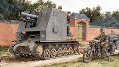 SIG33 auf PzKpfw I Ausf B Bison I - sIG Kompanie (mot. S) 702, 1 Panzer Division Francia 1940 - Ron Volstad - Dragon