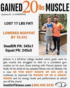 GET IN the BEST SHAPE of YOUR LIFE!! Wake up in a GREAT MOOD!! . . GAIN MUSCLE, LOSE FAT, lower body fat, and reach NEW PRs!! . . Do you want results like Jackson's, we can get YOU there! Begin with YOUR complimentary consultation, Call TODAY: 866.699.5232, swing by the gym to schedule a time or visit our website (link at the top of our Instagram page) #lajollalocals #sandiegoconnection #sdlocals #sandiegolocals - posted by Iron Orr Fitness  https://www.instagram.com/ironorrfitness. See more…