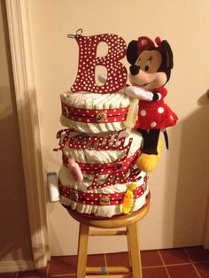 Minnie Mouse Diaper Cake!!