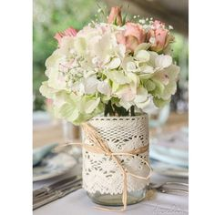 Amei! **Me encantó... #tips #dica #reco #recomendacion #deco #decoração #decoracion #flowes #flores #centrodemesa #renda #bordados