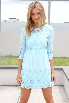 I like the color and the design. It would be really cute as a casual dress in the spring.