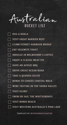 Ideas Travel Bucket List Australia Wanderlust For 2019 Travel Checklist, Travel List, Travel Bucket Lists, Travel Goals, Places To Travel, Travel Destinations, Africa Destinations, Holiday Destinations, Budget Planer