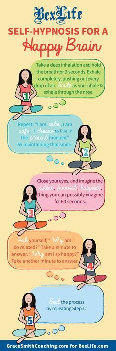 Simple mindful breathing exercise to reduce stress & anxiety. Self Hypnosis for a Happy Brain!