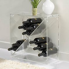$169.95 can stack multiples | 24 Bottle Acrylic Wine Cube - Wine Enthusiast