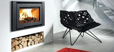 Westfire Stove Specialist: this wood burning stove is a wonderfully warming cent. , Westfire Stove Specialist: this wood burning stove is a wonderfully warming centrepiece around which to open presents and drink mulled wine! Contemporary Wood Burning Stoves, Modern Stoves, Modern Log Burners, Inset Stoves, Wood Burning Fireplace Inserts, Stove Fireplace, Wood Burner, Picture On Wood, Living Room Lighting