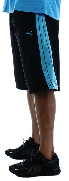 Black/Fluo BluePuma Form Stripe 12 Inch Men's Shorts. Click here for all Puma Apparel http://www.streetmoda.com/collections/vendors?q=Puma (Hoodies, Shoes, Tshirts) from Streetmoda.com