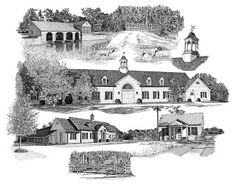 Melissa B. Tubbs Ink Architecture: Plantation Montage