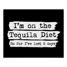 Tequila Diet Poster