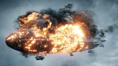 Zeppelin on fire - a defining moment in the Battlefield 1 game.
