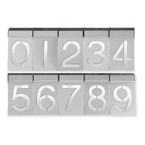 Modern house numbers.