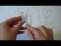 DIY Christmas ideas -  how to make stamps out of hot glue. by Fantasvale More tutorials here: www.youtube.com/Fantasvale
