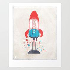 Rocket Sicle Art Print by jmscott - $15.00