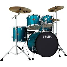 Tama Imperialstar Complete Drum Kit with 22 inch Bass Drum, Cymbals and Hardware, Midnight Blue, Black Snare Drum, Bass Drum, Acoustic Drum, Drum Heads, How To Play Drums, Drum Kits, Cool Things To Buy, Stuff To Buy, So Little Time