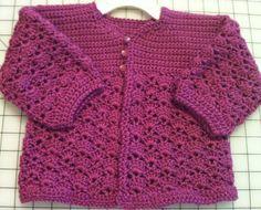 Crochet Plum Shell Stitch Sweater by BlissfulFiber on Etsy, $21.00