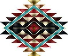 native american beadwork patters Native American Southwest-Style Rainbow Sunburst Poster by Ricky Barnes - Native American Patterns, Native American Design, Native Design, Bead Loom Patterns, Weaving Patterns, Cross Stitch Patterns, Jewelry Patterns, Bracelet Patterns, Native Beading Patterns