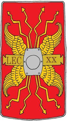 b986d65b65d Roman Legionary Shield Legion 20 Valeria Victr by historymaker1986. deviantart.com on @DeviantArt