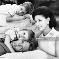 """""""A relaxed family portrait of HRH Princess Margaret, The Earl of Snowdon and their children Viscount Linley Davie and Lady Sarah Armstrong-Jones. """" Get premium, high resolution news photos at Getty Images"""