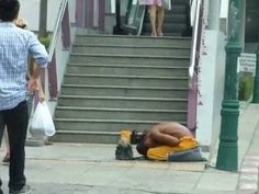Thai Beggar begging