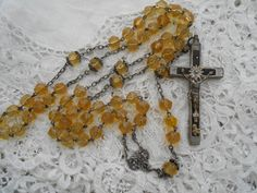 Antique rosary 1900 Real silver chain by Nkempantiques on Etsy, €20.00
