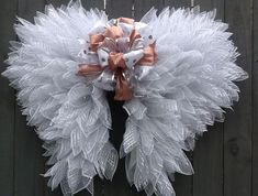Angel Wings, Front Door wreath, Graveside Wreath, Memorial Arrangement, Easter Wings, Interior Desig