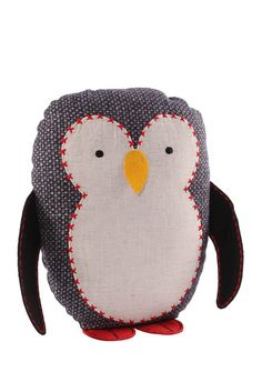 sewing inspiration-Penguin Pillow - Black/White