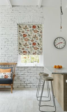 Add subtle colour and hints of pattern to a white room to create a cool scandi theme. A made to measure patterned blind would fit perfectly in this theme in a kitchen, living room or bedroom. Patterned Blinds, Perfect Fit Blinds, Scandi Style, Roman Blinds, Window Dressings, White Rooms, Fashion Books, Kitchen Living, Living Rooms