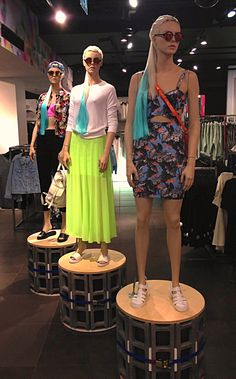 Pacific Life mannequin styling at TOPSHOP 214