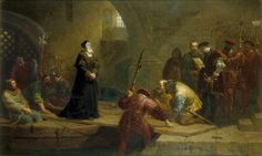Thomas Cranmer at the Traitor's Gate After the painting by Frederick Goodall