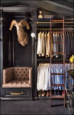 Love this closet...with the awful head in it