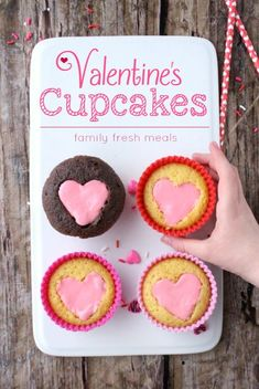 Easy Heart Valentine Cupcakes Recipe - FamilyFreshMeals.com