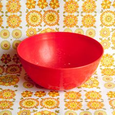 Vintage Retro 1960s/70s Large Red Plastic Stewart Mixing Bowl by UpStagedVintage on Etsy