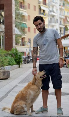 George Mavridis with his dog Molly