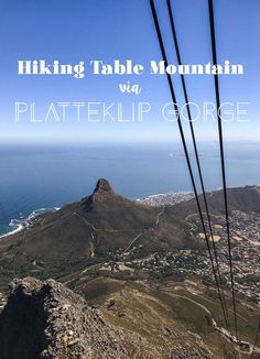 Hiking Table Mountain via Platteklip Gorge. Hiking Table Mountain is the rite of passage for Cape Town visitors. Take the Platteklip Gorge route up for the fastest ascent & amazing views over Signal Hill, Lion's Head and Devil's Peak. Travel Advice, Travel Guides, Travel Info, Travel Couple, Family Travel, Places To Travel, Travel Destinations, Travel Pics, Table Mountain