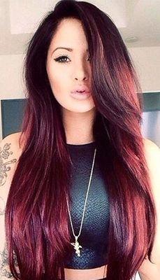 ... Cherry Hair on Pinterest | Cherry Hair, Black Cherry Hair Color and
