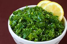 Lemon Parmesan Kale Salad Recipe    Ingredients:        3 cups chopped fresh kale      1 Tbsp. olive oil      1 Tbsp. lemon juice      1/2 tsp. dried thyme      pinch of salt and freshly-ground black pepper      1/4 cup freshly-grated Parmesan      1/4 cup toasted bread crumbs (optional)    Method:    In a large bowl, whisk together olive oil, lemon juice, thyme, salt and pepper.  Add kale and Parmesan (and bread crumbs, if using), and toss until the kale is evenly coated.  Serve…