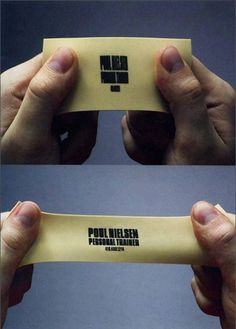 Personal Trainer Business Card! This is the best thing I have ever seen!!! I'm so getting these!