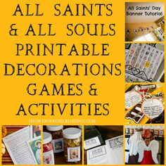 Shower of Roses: All Saints Party Printables (games, activities, ideas) Catholic Religious Education, Catholic Crafts, Catholic Religion, Catholic Kids, Catholic Saints, Catholic School, Catholic Traditions, Family Traditions, Saints For Kids