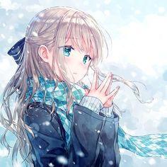 Картинка с тегом «anime, anime girl, and winter»