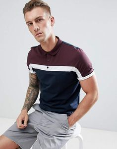 ASOS DESIGN polo shirt with cut and sew body panel and zip neck in grey at ASOS. Shop this season's must haves with multiple delivery and return options (Ts&Cs apply). Polo Shirt Style, Polo Shirt Design, Polo Shirt Girl, Polo Design, Gray Shirt Outfit, Polo Shirt Outfits, Polo T Shirts, Camisa Polo, Business Casual Outfits For Work