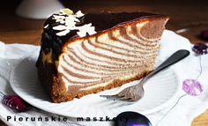 Pieruńskie maszkety - blog kulinarny: Efektowny sernik w paski czyli ciasto zebra