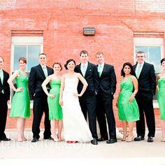 Green wedding party