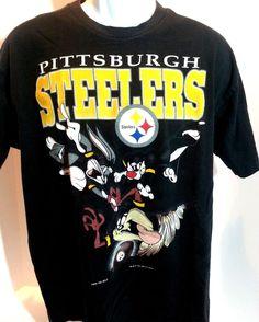 NFL  LooneyTunes TAZ Pittsburgh Steelers Tasmanian Devil Black T Shirt XL   FruitoftheLoom  PittsburghSteelers  football 2065d3080