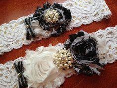 Black Wedding Garter Bridal Set Keepsake Toss Throw Gothic Dark Lace On Etsy 1988 CAD