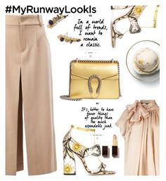 """""""Classic with hint of gold"""" by nataskaz ❤ liked on Polyvore featuring Chloé, Gucci, Tom Ford, Kendra Scott and Disney"""