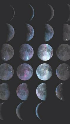 Moon Phases - Lunar Phases - Hipster Moon Phases - iPhone - (C) Andre Gift Shop Photo D Art, Foto Art, Picture Photo, Sea Wallpaper, Wallpaper Backgrounds, Wiccan Wallpaper, Wallpaper Space, Colorful Wallpaper, Iphone Wallpaper Moon